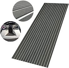 CHURERSHINING EVA Boat Teak Decking Sheet with Bevel Edge Yacht Marine Flooring Carpet,Backing Adhesive Mat 94.5