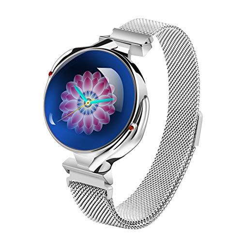 Z38 Smart Watch Ladies Luxury Heart Rate Monitor Monitor de la presión Arterial Reloj de Fitness Rastreador Deportivo Pulsera Inteligente Ladies Girl Smartwatch,B