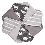 Momcozy Baby Waschlappen, 8 Stück Baby Handtücher Set, Weiche Baby Gesichtstücher, Spucktücher Baby, Baumwolle Mulltücher Baby, Baby Badetuch für Babys, Mädchen, Jungen, 25 X 25 cm, Grau