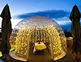 Qnlly Inflatable Bubble House Clear Greenhouse,Double Layer Transparent Bubble Family Wedding Party Bubble Room for Camping,Inflatable PVC Dome Tent 16.3916.3911.48ft