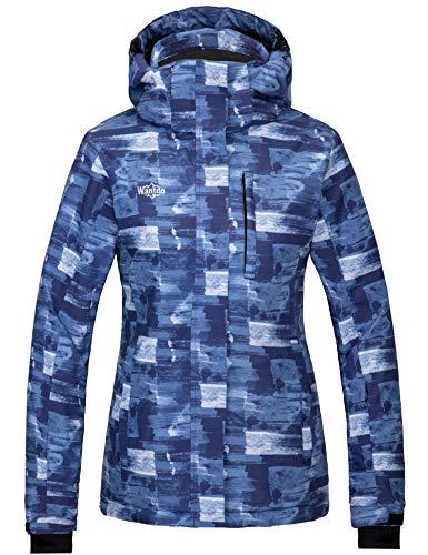 Wantdo Women's Mountain Waterproof Ski Snowboard Jacket Rain Jacket Navy M