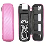 YINVA Pen Case for Apple Pencil 2nd Generation Accessories for Apple Pen 1st Gen Storage Box for Stylus Pen Holder for iPad Cable Charger Head Carrying Case(Pink)