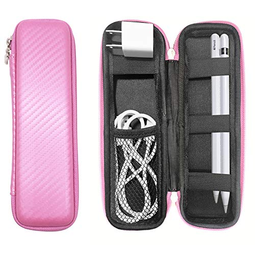 YINVA Pen Case for Apple Pencil 2 Generation Accessories for iPad Pencil 1st Gen Storage Box for Stylus Pen Case,Cable Charger Head Carrying Case(Pink)