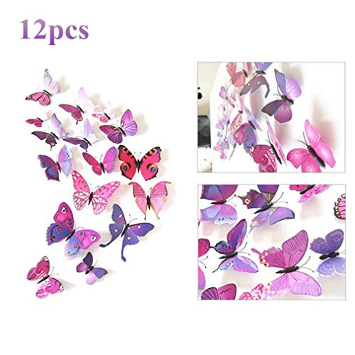 Great Tattoos 12pcs 3D Colorful Butterfly Wall Stickers DIY Crafts Art Decor Vivid Butterflies Stickers for Nursery Room Classroom Office Kids Baby Room Bedroom Living Room by TheBigThumb