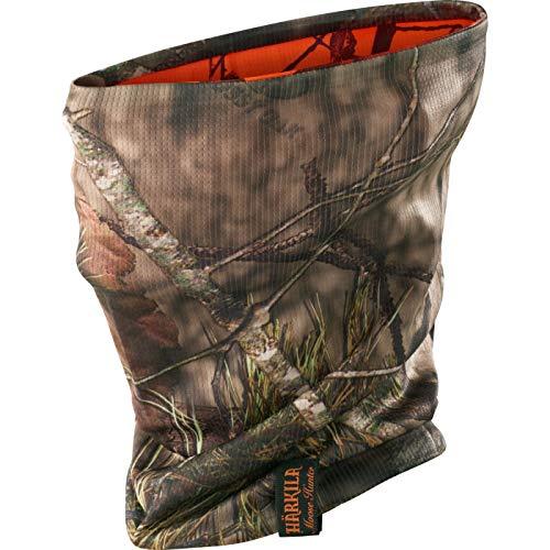 Härkila wendbares Halstuch - Rohrschal Moose Hunter Mossy Oak® Blaze Orange-Camouflage - Mundschutz mit antibakterieller Polygiene® Behandlung