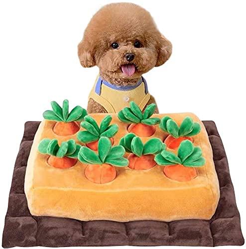 XiangRuペットおもちゃにんじんノーズワークおやつ隠し訓練毛布ペット犬分離不安/ストレス解消/集中力向上/嗅覚訓練おもちゃ運動不足食いすぎる対策噛む知育(8個にんじん)