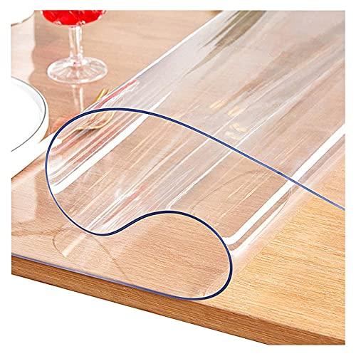JXFS Mantel Transparente,PVC Material,Suave e Impermeable,Resistente Al Desgaste,Resistente al Aceite y Resistente a Altas temperaturas,Soporte de personalización(Color:3mm,Size: 70x200cm)