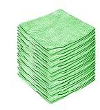 HoitoDeals - Paños de microfibra para limpieza de cocina, limpieza de polvo, etc., Verde, 50 Cloth