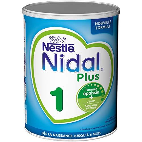 Nestlé Nidal Plus 1 - Lait bébé 1er âge en poudre de 0 à 6 mois - Formule épaissie - Boîte de...
