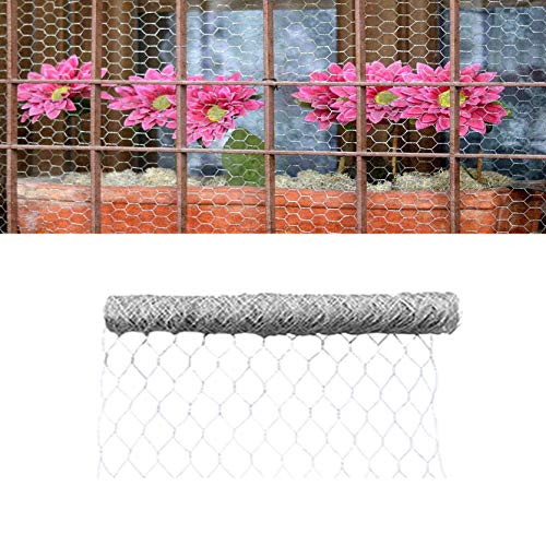TINVHY 72 Inch x 150 FT x 2 Inch Galvanized Hexagonal Wire Poultry Netting Mesh for Craft Projects and Gardening Metal Mesh Fencing/Chicken Wire