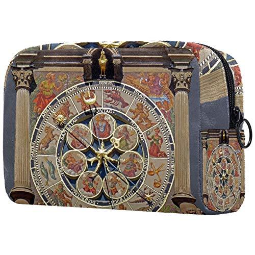 Bolsa de aseo de viaje, fácil organización para hombres o mujeres, reloj de arquitectura vintage