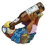 Design Toscano HF308507 Beer Buddy Tropical Tiki Parrot Bottle Holder Statue, 10 Inch, Polyresin, Full Color
