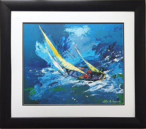 "LEROY NEIMAN ""Sailing Newly Custom Framed Art Lithograph"