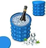Bit-Chu Ice Cube Mold Ice Trays, Large Silicone Ice Bucket, (2 in 1)