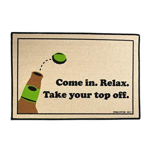 TG,LLC Treasure Gurus Funny Take Off Top Beer Bottle Welcome Mat Indoor Outdoor Bar Pub Door Floor Rug Doormat