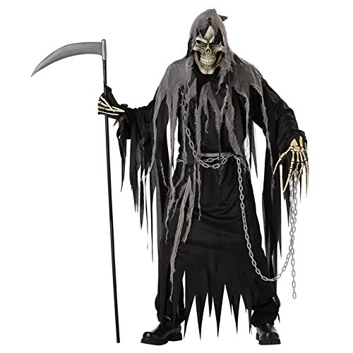California Costumes Mr. Grim Costume, Black/Grey,One Size
