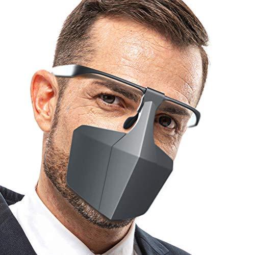 BYJIN Maschera Protettiva, Maschera in Materiale PE, Riutilizzabile, Supporto per Lavaggio, Supporto per Occhiali, Comodo e Traspirante,Anti-Polvere, Goccioline Anti,Elegante Maschera Multifunzionale