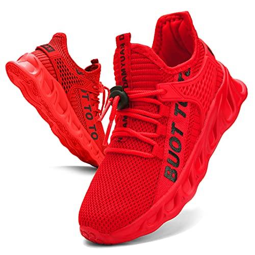 EGMPDA Boy Shoes Athletic Running Fashion Sneakers Walking Breathable Kids Girls Fitness Cross-Training Tennis Lightweight Shoes(Toddler/Little Kid/Big Kid)