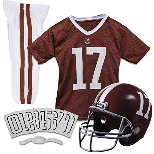 Franklin Sports NCAA Alabama Crimson Tide Kids College Football Uniform Set – Youth Uniform Set – Includes Jersey, Helmet, Pants – Youth Small