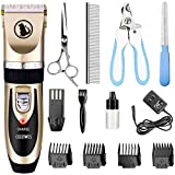 Ceenwes Dog Clippers Low Noise Pet Clippers Rechargeable Dog Trimmer Cordless Pet Grooming Tool Professional Dog Hair Trimmer with Comb Guides Scissors Nail Kits for Dogs Cats & Other