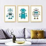 LLXHGModerne Cartoon Nette Roboter Poster Leinwand
