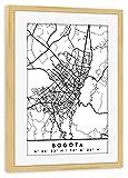artboxONE Poster mit Rahmen Kiefer 30x20 cm Bogota Colombia