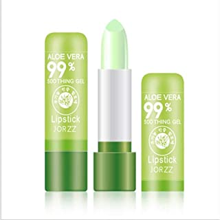 N /A Beauty Bright Aloe Vera Lipstick Crystal Jelly Lipstick Magia Cambio de Temperatura Color Maquillaje de Labios (2 Piezas)