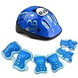 <span class='highlight'><span class='highlight'>MOOUK</span></span> Kids Protective Gear Set,Roller Skating Skateboard Scooter Cycling Protective Gear Set (Knee Pads Elbow Pads wrist Pads  Helmet) (Blue)