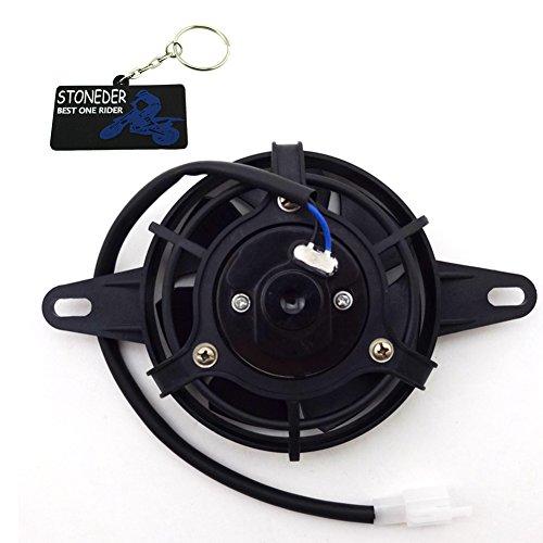 Stoneder - Ventilador de refrigeración térmica para radiador eléctrico para cuatrimoto china, motos de 4 ruedas, quad, Go Kart, Buggy o UTV de 150 cc, 200 cc, 250 cc
