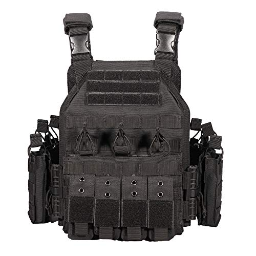 vAv YAKEDA Tactical Military Vest for Men Quick Release Outdoor Airsoft Vest Adjustable for Adults