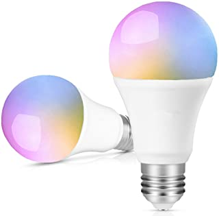AED Smart Wifi Light Bulb Work With Alexa Goolge Home, No Hub Required, A19 Dimmable, 16..