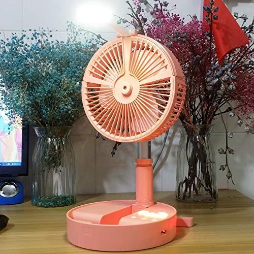 Ventilador plegable portátil de escritorio Humidificante e Hidratante Spray Ventilador de Carga USB (Rosa) Mini Ventilador de Escritorio (Color: Rosa)