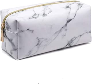 Portable Cosmetic Bag Travel Marble Zipper Makeup Bags for Brushes Women Pencil Case PU Organizer Pouch
