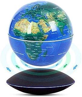 Flytande världskarta Globen UFO-stil Bas Auto-Rotation Ändra LED-induktionsljus i världen för dekoration på hemmakontor