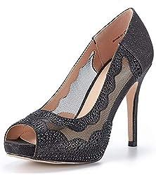 Divine-01 High Heels Black Color Shoes