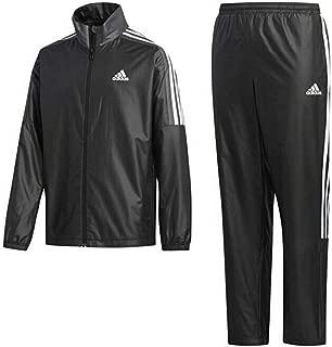 adidas(アディダス) ウインドブレーカー上下セット キッズ 140 (身長135-145cm) トレーニングウェア ウインドブレーカージャケット × パンツ (裏起毛) 国内正規品 FYQ44 ブラック/ブラック