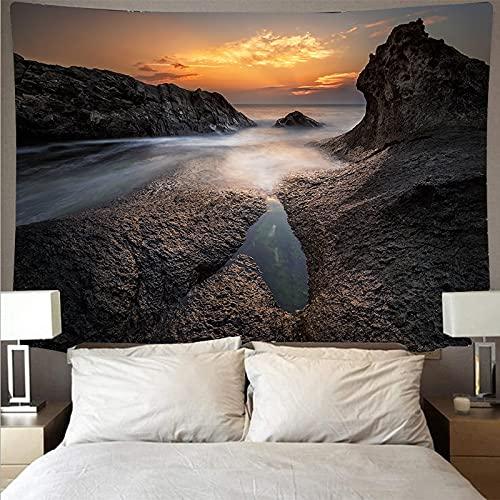 Paisaje marino arrecife tapiz arte psicodélico colgante de pared toalla de playa mandala manta fina tapiz tela de fondo A1 180x230cm