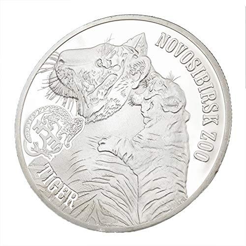 Xinyexinwang Gedenkmünzsammlung Münze King of Beasts Tiger Silbermünze Geschenksammlung Münze, Silber