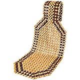 Smartfox Sitzauflage mit Holzperlen Massageauflage Sitzbezug mit Ahornkugeln