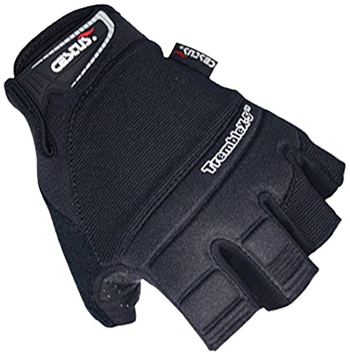 Cestus Vibration Series TrembleX-5 Neoprene Polychloroprene Anti-Vibration Glove, Work, X-Large, Black (Pack of 1 Pair)