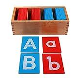Perfeclan Madera Montessori Bebé Alfabetos De Arena para El Aprendizaje De La...
