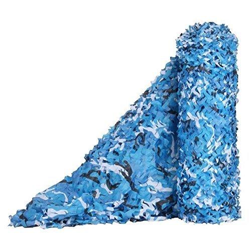 Camouflage Netting Malla de camuflaje, densa y resistente, agregue red de refuerzo, adecuada para acampar al aire libre Camo sombra del sol y decoración de jardín (varios tamaños disponibles, Ocean Ma
