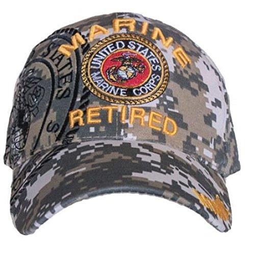 RFCO ACU Digital Camo USMC Marines Marine Retired Veteran Baseball Hat Cap