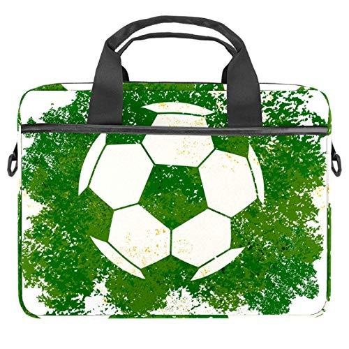 Lurnies Fútbol Fútbol Verde Deportes Maleta para computador portátil Impreso único Compatible con MacBook Pro de 13-13.3 Pulgadas, MacBook Air, computadora portátil 28x36.8x3 cm