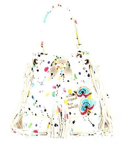 Desigual Damentasche Arosa Splatter Blanco