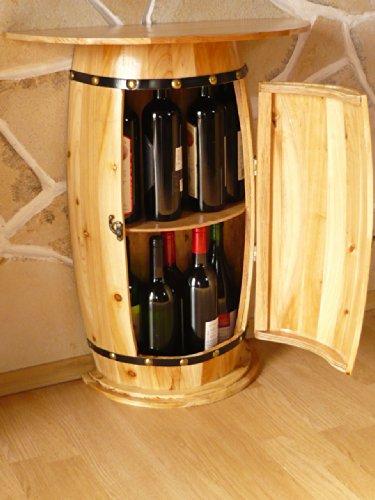 DanDiBo Wandtisch Tisch Weinfass 0373 Schrank Weinregal Fass aus Holz - 6