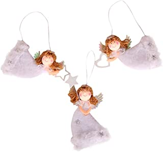 PLENTOP-Gift for Christmas-Christmas Cute Love Plush Flying Angel Pendant Christmas Tree Decoration 3PC Ornaments Xmas Party Supplies Thanksgiving Party Décor