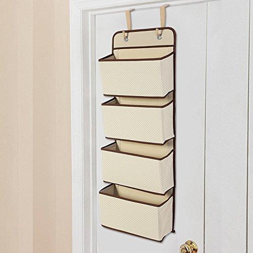 Gotop 4 etages, hangplank achter de deur met haken voor het opbergen van schoenen, kledingkast