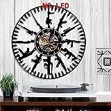 tjiaxu Bullet Time Led Reloj de Vinilo Luz de Cambio de Color Arte Lámpara de Pared Control Remoto Retroiluminación para...