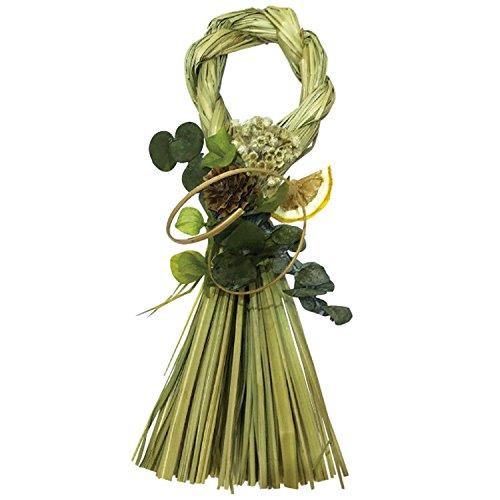 丸和貿易 おしゃれ モダン Style 迎春 リース 正月 玄関 飾り しめ飾り 24cm Sサイズ C 4008591-03